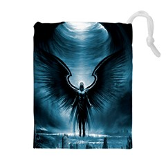 Rising Angel Fantasy Drawstring Pouches (extra Large)