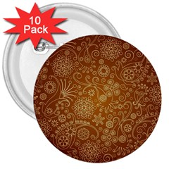 Batik Art Pattern 3  Buttons (10 Pack)  by BangZart