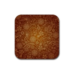 Batik Art Pattern Rubber Square Coaster (4 Pack)  by BangZart