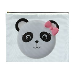 Pretty Cute Panda Cosmetic Bag (xl) by BangZart