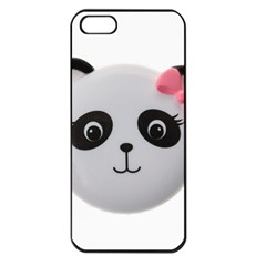 Pretty Cute Panda Apple Iphone 5 Seamless Case (black) by BangZart