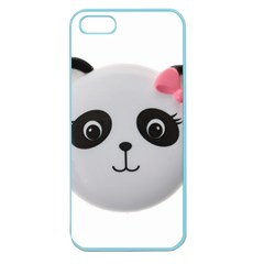Pretty Cute Panda Apple Seamless Iphone 5 Case (color) by BangZart