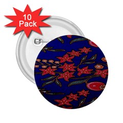 Batik  Fabric 2 25  Buttons (10 Pack)  by BangZart