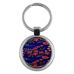 Batik  Fabric Key Chains (round)