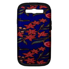 Batik  Fabric Samsung Galaxy S Iii Hardshell Case (pc+silicone) by BangZart