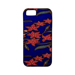 Batik  Fabric Apple Iphone 5 Classic Hardshell Case (pc+silicone) by BangZart