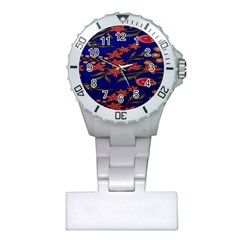 Batik  Fabric Plastic Nurses Watch