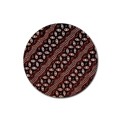 Art Traditional Batik Pattern Rubber Coaster (round)  by BangZart