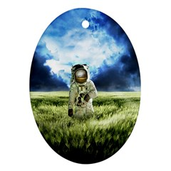 Astronaut Oval Ornament (two Sides) by BangZart