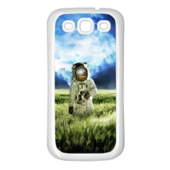 Astronaut Samsung Galaxy S3 Back Case (white) by BangZart