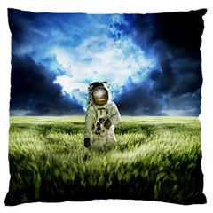Astronaut Large Flano Cushion Case (two Sides) by BangZart