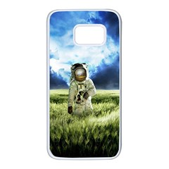 Astronaut Samsung Galaxy S7 White Seamless Case by BangZart