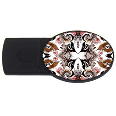 Art Traditional Batik Flower Pattern Usb Flash Drive Oval (2 Gb) by BangZart