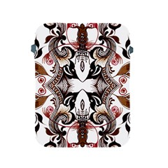 Art Traditional Batik Flower Pattern Apple Ipad 2/3/4 Protective Soft Cases