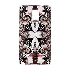 Art Traditional Batik Flower Pattern Samsung Galaxy Note 4 Hardshell Case by BangZart