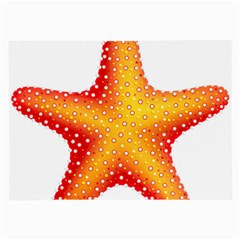Starfish Large Glasses Cloth (2 Side) by BangZart