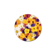 Colorful Flowers Pattern Golf Ball Marker (10 Pack) by BangZart