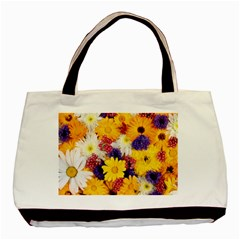 Colorful Flowers Pattern Basic Tote Bag by BangZart