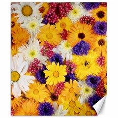 Colorful Flowers Pattern Canvas 8  X 10  by BangZart