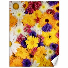 Colorful Flowers Pattern Canvas 36  X 48   by BangZart
