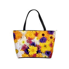 Colorful Flowers Pattern Shoulder Handbags by BangZart