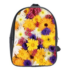 Colorful Flowers Pattern School Bags(large)  by BangZart