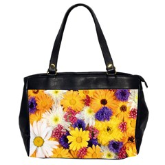 Colorful Flowers Pattern Office Handbags (2 Sides)  by BangZart