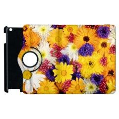Colorful Flowers Pattern Apple Ipad 3/4 Flip 360 Case by BangZart