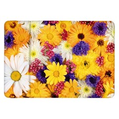 Colorful Flowers Pattern Samsung Galaxy Tab 8 9  P7300 Flip Case by BangZart