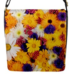 Colorful Flowers Pattern Flap Messenger Bag (s) by BangZart