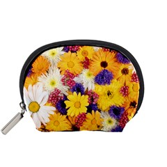 Colorful Flowers Pattern Accessory Pouches (small)  by BangZart