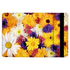 Colorful Flowers Pattern Ipad Air Flip by BangZart