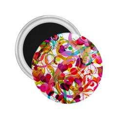 Abstract Colorful Heart 2 25  Magnets by BangZart