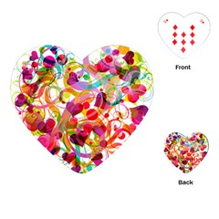 Abstract Colorful Heart Playing Cards (heart)  by BangZart