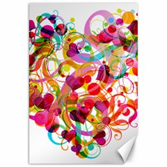 Abstract Colorful Heart Canvas 20  X 30   by BangZart