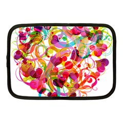 Abstract Colorful Heart Netbook Case (medium)  by BangZart