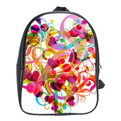 Abstract Colorful Heart School Bags(large)  by BangZart