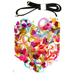 Abstract Colorful Heart Shoulder Sling Bags by BangZart