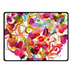 Abstract Colorful Heart Fleece Blanket (small)