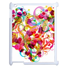 Abstract Colorful Heart Apple Ipad 2 Case (white) by BangZart