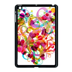 Abstract Colorful Heart Apple Ipad Mini Case (black) by BangZart