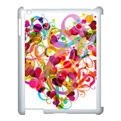 Abstract Colorful Heart Apple Ipad 3/4 Case (white) by BangZart