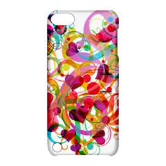 Abstract Colorful Heart Apple Ipod Touch 5 Hardshell Case With Stand by BangZart