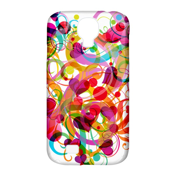 Abstract Colorful Heart Samsung Galaxy S4 Classic Hardshell Case (PC+Silicone)