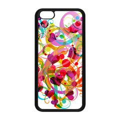 Abstract Colorful Heart Apple Iphone 5c Seamless Case (black)