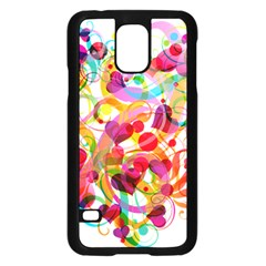 Abstract Colorful Heart Samsung Galaxy S5 Case (black) by BangZart