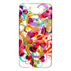 Abstract Colorful Heart Samsung Galaxy S5 Back Case (white) by BangZart