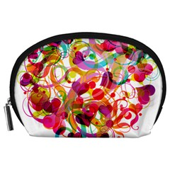 Abstract Colorful Heart Accessory Pouches (large)  by BangZart