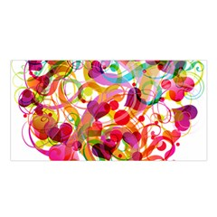Abstract Colorful Heart Satin Shawl by BangZart
