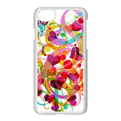 Abstract Colorful Heart Apple Iphone 7 Seamless Case (white) by BangZart